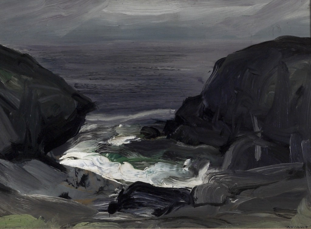 George Wesley Bellows (American, 1882-1925). The Coming Storm, 1911. Oil on panel. Purchased with funds from the William Toben Memorial Fund. George Bellows was a native of Columbus, Ohio, and attended Ohio State University, where he excelled in art and athletics. In 1904 he left college to study art under Robert Henri at the New York School of Art. Like other associates of Henri, such as William Glackens, George Luks, Everett Shinn, and John Sloan, Bellows was interested in a realistic portrayal of American society and urban life. Characteristic of his style is a vigorous physicality, not only of subject matter, but also of color and brush stroke. Bellows had the distinction of being the youngest artist to be awarded associate membership in the National Academy of Design. He was very active in the New York art scene and founded the Society of Independent Artists. He continued his successful career in New York until his premature death of appendicitis in 1925.